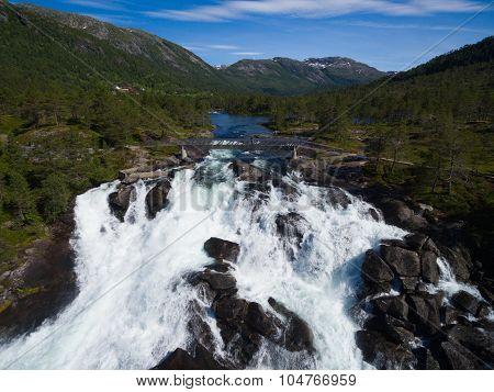 Likholefossen Waterfalls