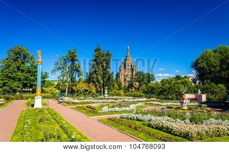View Of St. Peter And Paul Cathedral In Peterhof