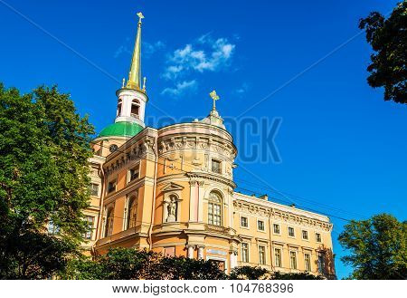 Saint Michael Castle In Saint Petersburg - Russia