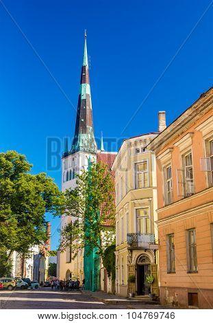 Street In The Historic Centre Of Tallinn - Estonia
