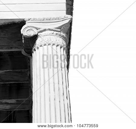 Athens In Greece The Old Architecture And Historical Place Parthenon