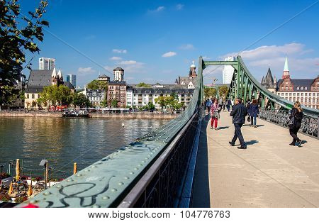 Iron Bridge In Frankfurt Am Main