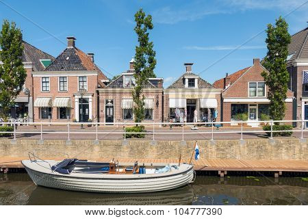 Center Of Ijlst In Friesland, Netherlands.