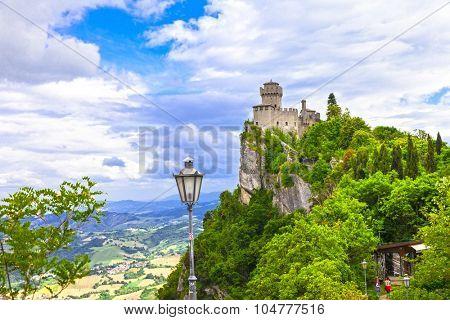 San Marino - view with Rocca della Guaita