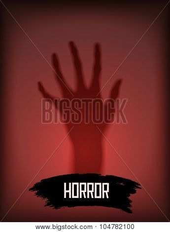 Silhouette of a ghost hand