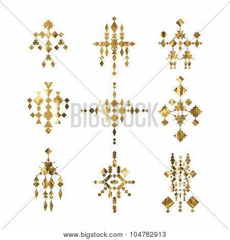 Gold Tribal Tattoo