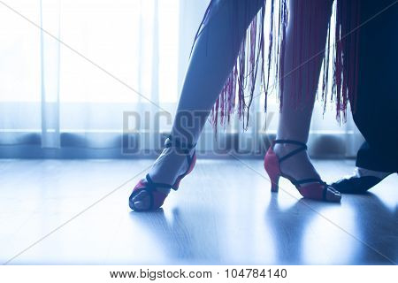 Shoes Feet Legs Female Ballroom Dance Teacher Dancer