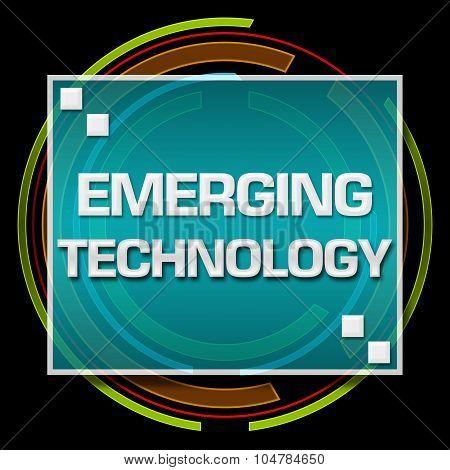 Emerging Technology Black Technical Circle
