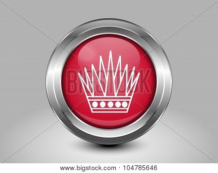 Variant Flag Of Bahrain. Metal Round Icon