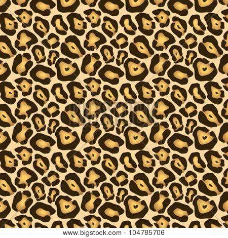 Leopard skin print vector pattern.