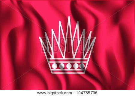 Variant Flag Of Bahrain. Rectangular Shape Icon