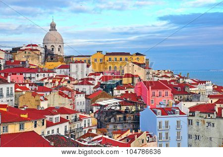 Colorful Houses Of Lisbon