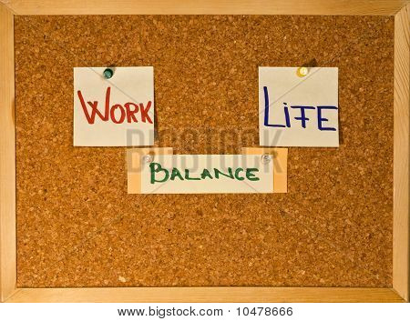 Work Life Balance On A Board
