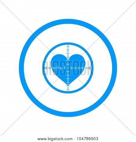 Crosshair Icon With A Heart.