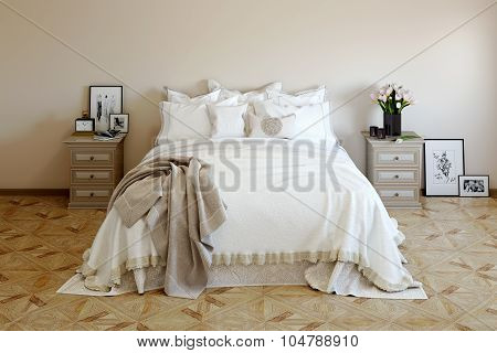 Bedroom in soft colors