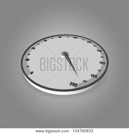 Speedometer on gradient background.