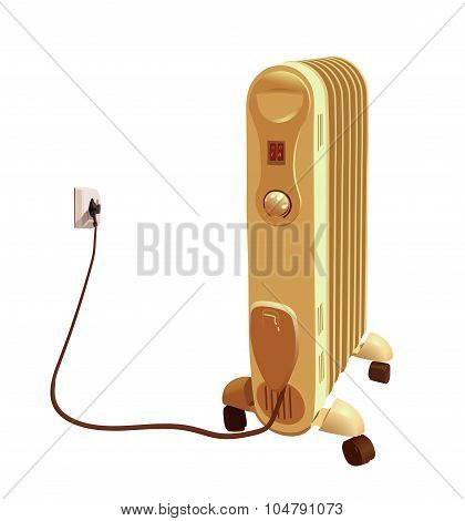 Heater isolated on white background vector illustration