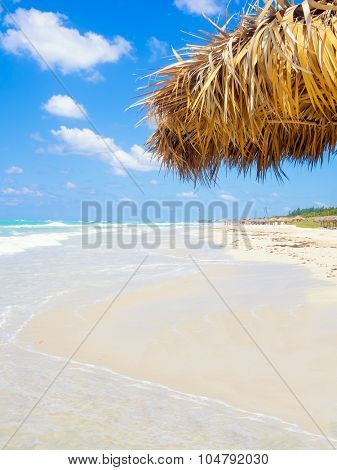 The beautiful beach of Varadero in Cuba on a summer day