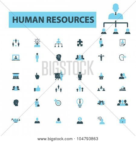 human resources, management icons