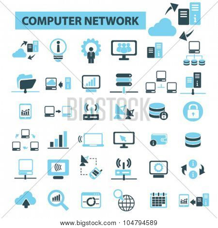 computer technology, network icons