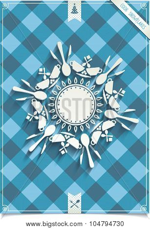 Holiday card with unique design Snowflakes