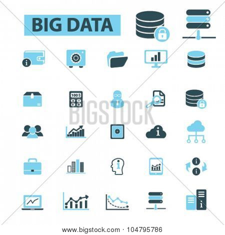 big data, database icons