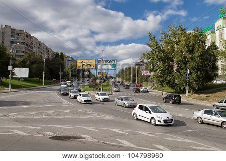 The Traffic On The Street Of Hiroshima