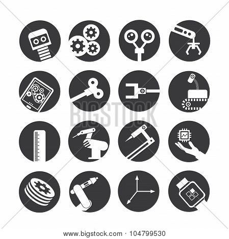 automation and robotics icons