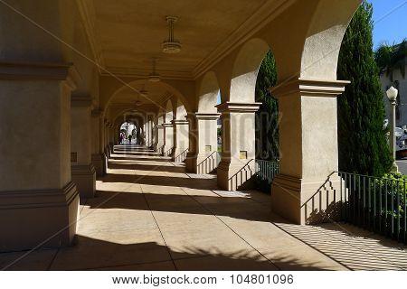 Corridor of Casa del Prado in Balboa Park