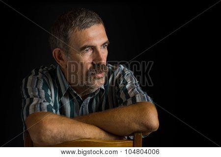 Portrait of mature Ukrainian peasant