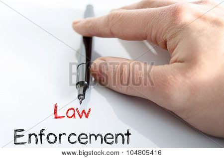 Law Enforcement Text Concept