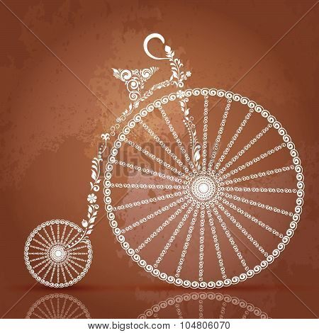 Retro ornate bike