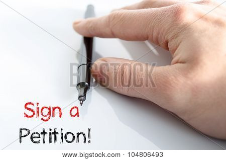 Sign A Petition Text Concept