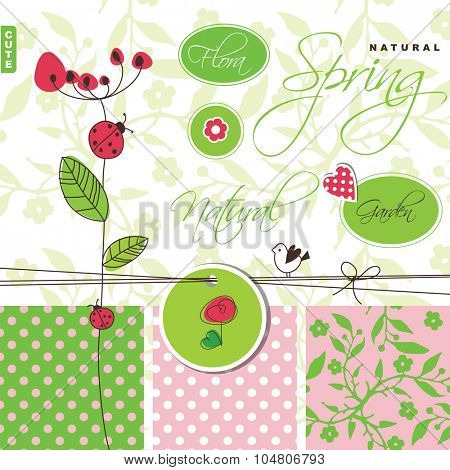 Garden and spring - design elements
