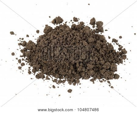Heap of ground, close up view