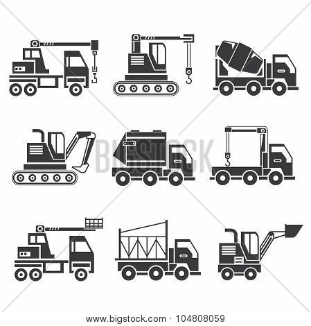 construction machinery icons
