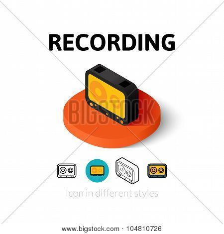 Recording icon in different style