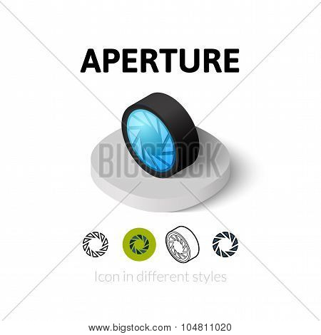 Aperture icon in different style
