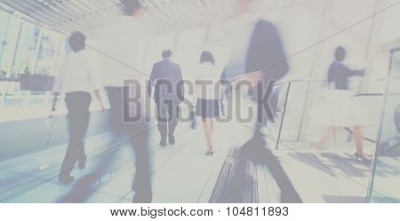 Hong Kong Business People Commuting Concept