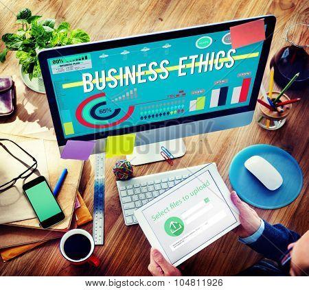 Business Ethics Behavior Honesty Concept