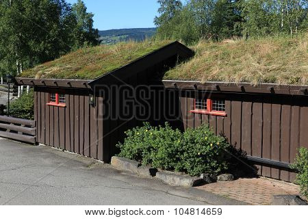 Small Houses With Traditional Norwegian Grassy Roofs