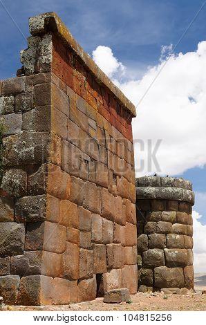 Inca Ruins In Cutimbo, Titicaca Lake, Peru