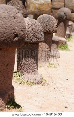 Inca Ruins In Chucuito, Titicaca Lake, Peru