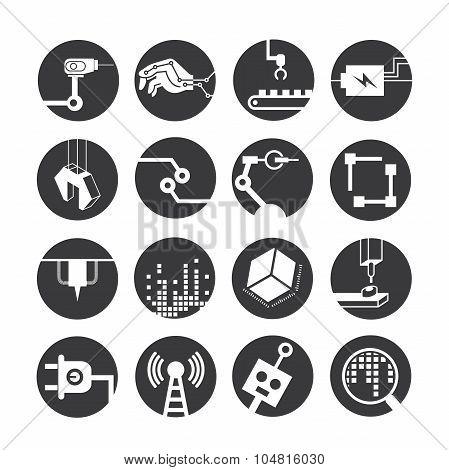 robotics and automation icons