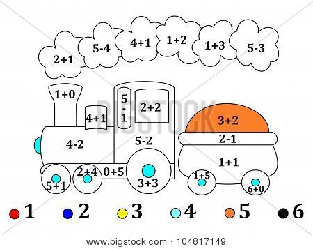 Counting And Drawings For Small Children - Illustration