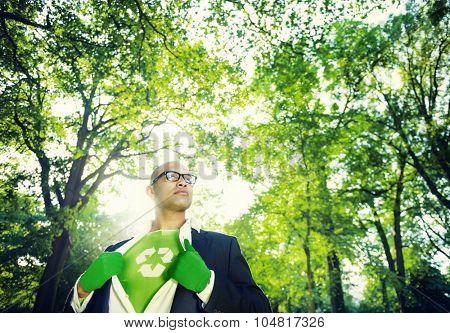 Conservative Businessman Environmental Nature Concept
