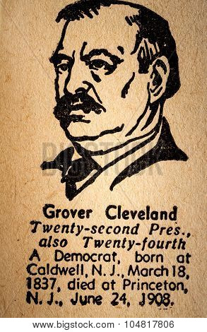 Grover Cleveland The 22Nd & 24Th President Of The United State Of America Drawing And Little Histori