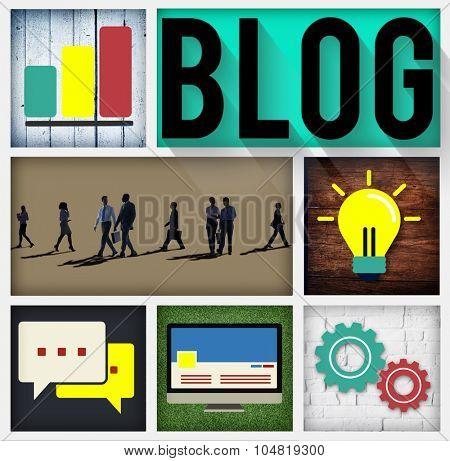 Blog Blogging Online Design Web Page Website Concept