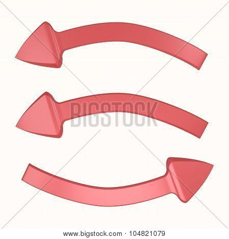Three Arrows Turning Around