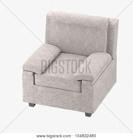 Light Gray Chair In Fabric